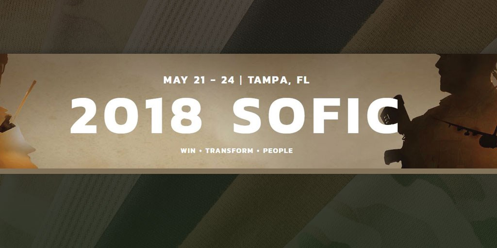 Look for us at SOFIC 2018