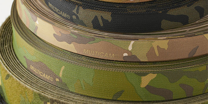 multicam printed narrow fabrics
