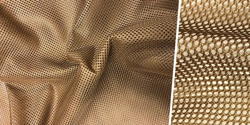 Now in Stock: Coyote Brown Polyester Tricot Mesh