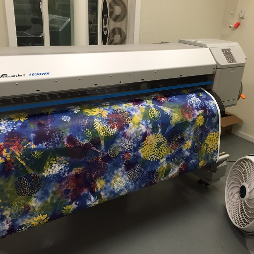 Digital fabric printing services.